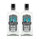 Ginebra Burdon Original de 70 cl - Elaborada en El Puerto de Santa Maria - Bodegas Grupo Caballero (Pack de 2 botellas)