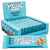 Moove - Barrita de proteínas vegana, sabor a mantequilla de cacahuete