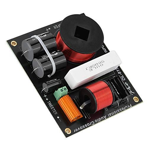 2-vägs högtalarfrekvensdelare, professionellt delningsapparat för delningsfilter för crossover-filter med skydd mot dubbla neonbubblor för professionella 12-18-tums scenhögtalare