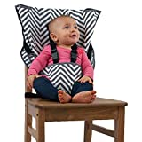 The Original Easy Seat Portable High Chair (Chevron) - Quick, Easy, Convenient Cloth Travel High Chair Fits in Your Hand Bag for a Happier, Safer Infant/Toddler