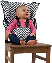 The Original Easy Seat Portable High Chair - Quick, Easy, Convenient Cloth Travel High Chair Fits in Your Hand Bag for a Happier, Safer Infant/Toddler (Chevron)