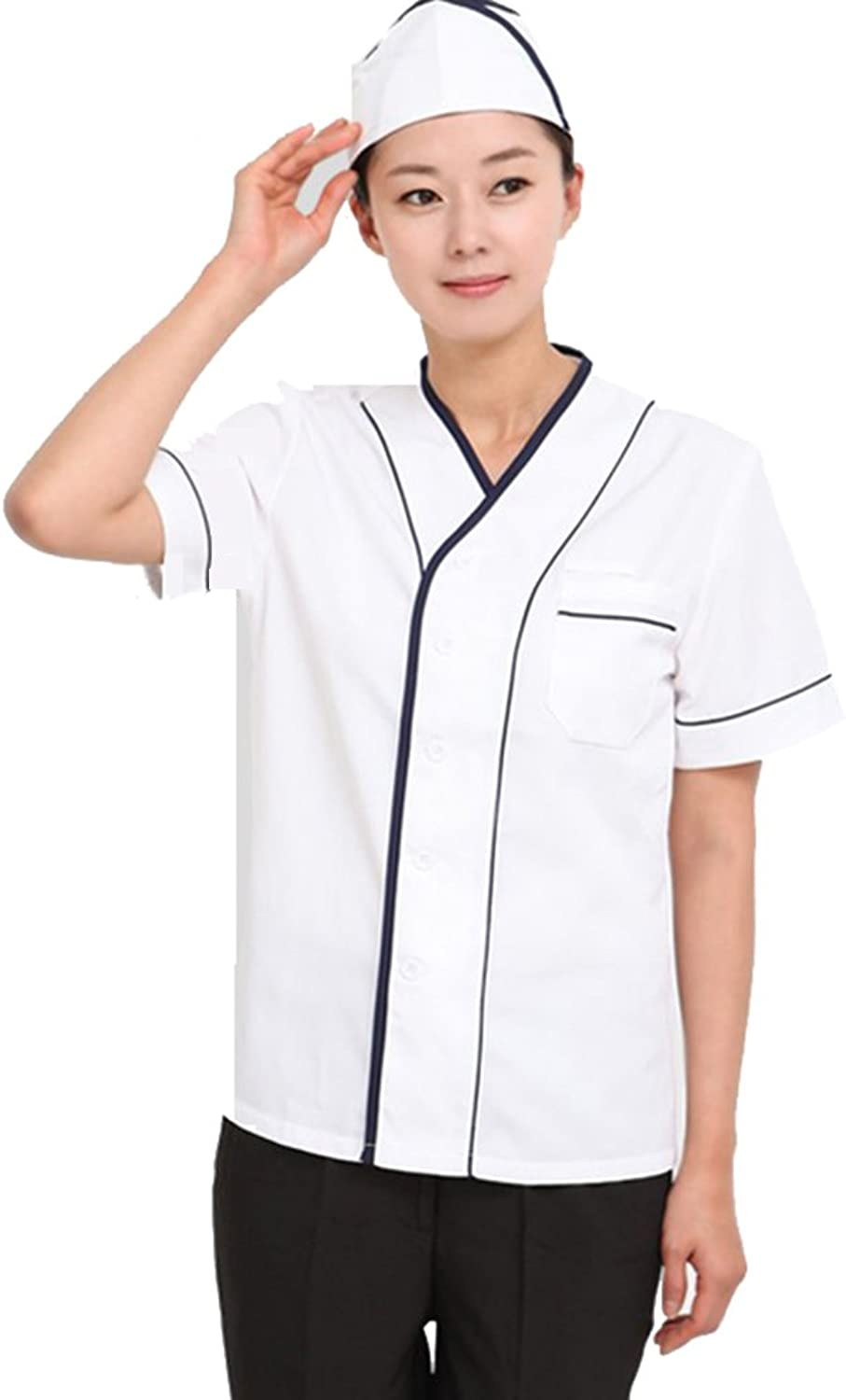 ChefsUniforms Japanese Sushi Chef Coat Work Uniforms for Men and Women