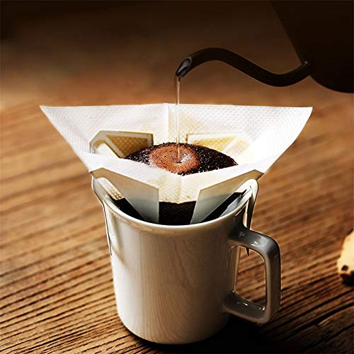 Edumarket241 OBR 20pcs Hanging Coffee Filter Bags Coffee Pour Over Coffee Tea Dripper Maker Disposable Pot Percolator Capsules Accessories
