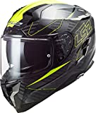 LS2, Casque Challenger Fold - Casco integral (talla L), color amarillo