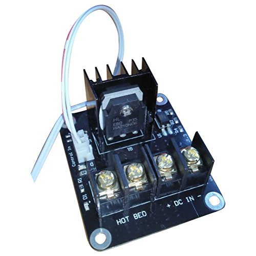 TOOGOO 3D Module D'Extension Mosfet pour Hotbed D'Imprimante Avance 2 Broches Anet A8 A6 A2 Compatible Noir