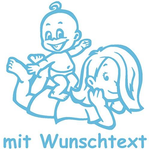 Babyaufkleber Autoaufkleber für Geschwister mit Wunschtext - Motiv G7-MJ (16 cm)