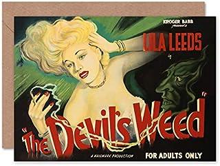 Fine Art Prints The Devils Weed Reefer affisch gratulationskort med kuvert inuti premiumkvalitet