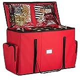 Super Rigid 2-in-1 Christmas Ornament Storage Box & Xmas Figurine Container - Easy Access...