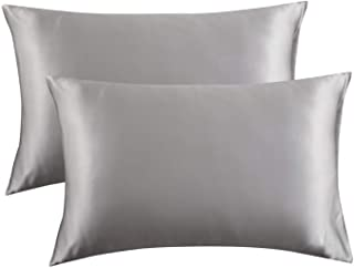 Bedsure Satin Pillowcase for Hair and Skin Silk...