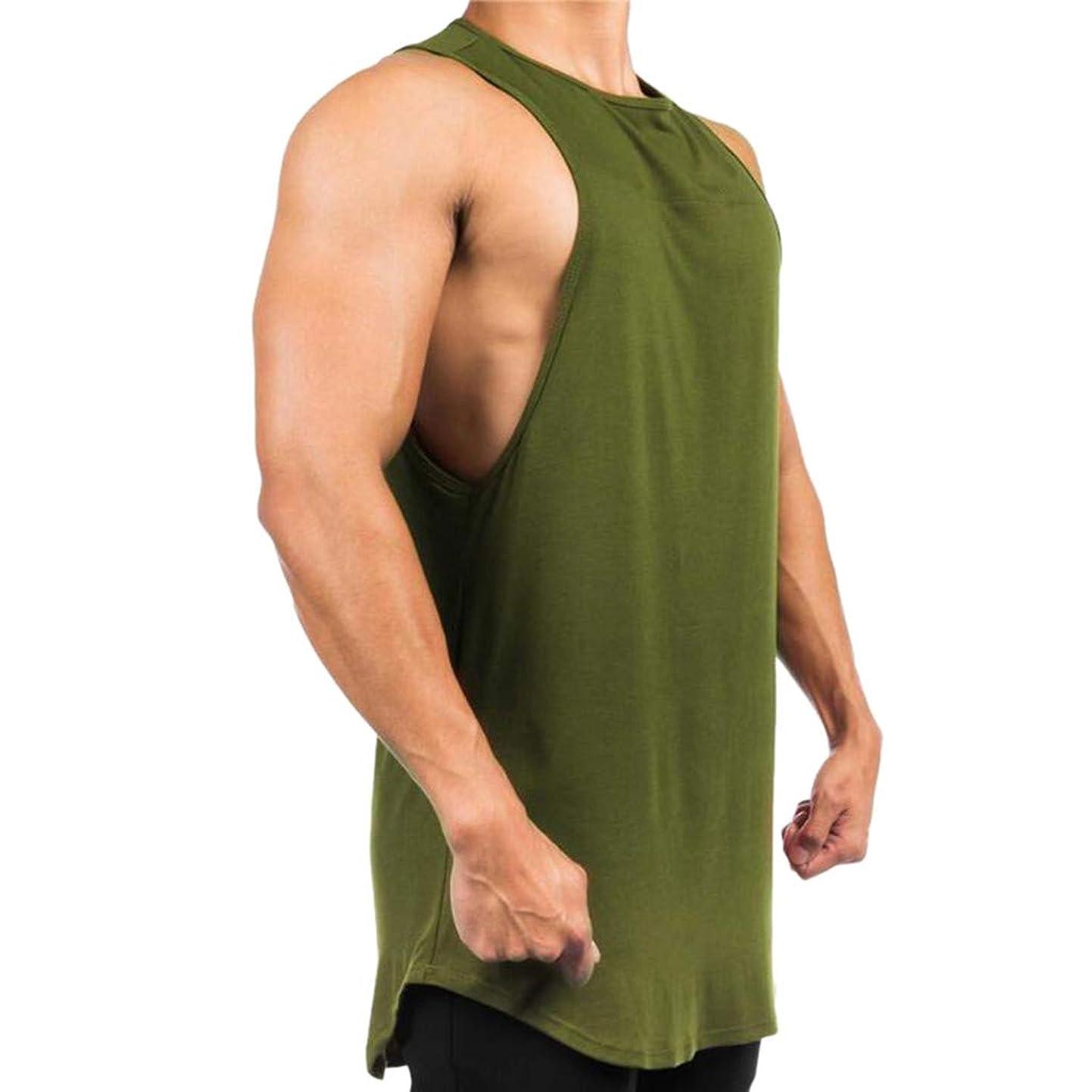 Hosamtel Men Tank Top T-Shirt Sleeveless Solid Casual Bodybuilding Sport Muscle Gym Workout Fitness Loose Fit Vest Tops lvhkxhdzgdj2