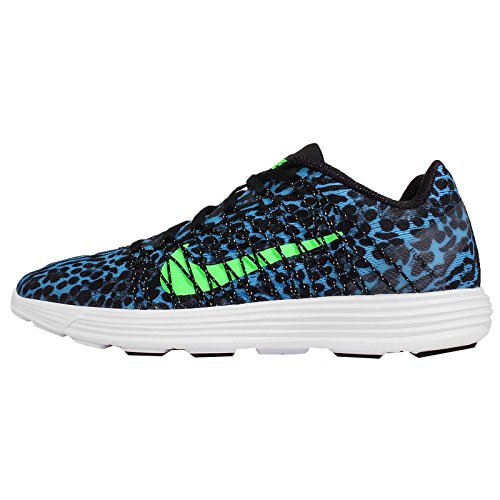 Nike Lunaracer+ 3 Womens Pool Blue/Voltage Green/White/Black Running Sneakers