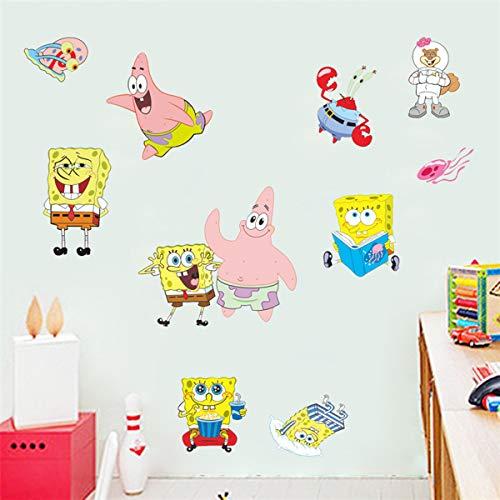 Spongebob Sticker Children's Cartoon Bedroom Background Wall Decoration Self-Adhesive Wall Sticker PVC
