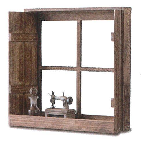 PL アンティーク調窓枠 Petit Monde ディスプレイウィンドウ ブラウン 41029