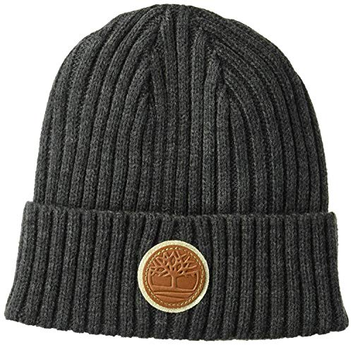 Timberland Men`s Ribbed Watch Cap Beanie (Grey(T100360C-010), One Size)