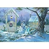 SHHSGZ Navidad 500 Piezas Rompecabezas de Madera Juegos para Adultos niños Juguete Puzzles para Arte Decoración del Hogar Regalo
