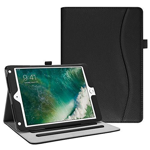 Fintie Case for iPad 9.7 2018 2017 / iPad Air 2 / iPad Air 1 - [Corner Protection] Multi-Angle Viewing Folio Cover w/Pocket, Auto Wake/Sleep for iPad 6th / 5th Generation, Black