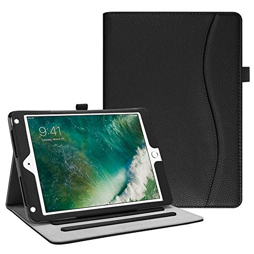 Fintie iPad 9.7 2018 2017 / iPad Air 2 / iPad Air Case - [Corner Protection] Multi-Angle Viewing Folio Cover w/ Pocket, Auto Wake / Sleep for Apple iPad 6th / 5th Gen, iPad Air 1 / 2, Black