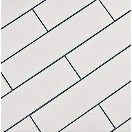 "White Subway Tile Gloss Finish 2"" X 8"" ( 60 pieces- Box of 6.7 Sqft), Wall Tile, Backsplash Tile, Bathroom Tile, Designed in Italy"