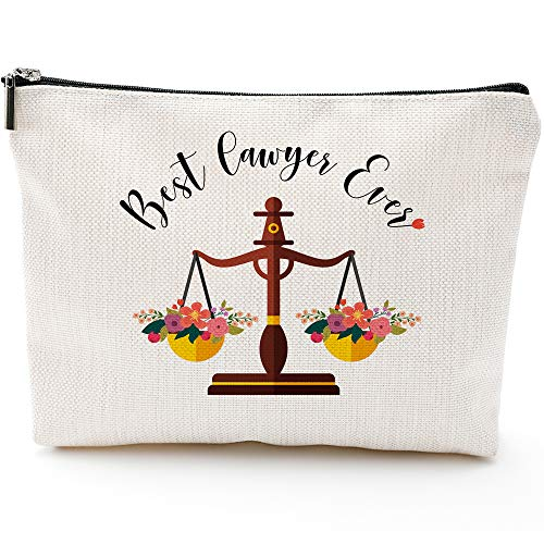 Lawyer Gifts For Women, Funny Lawyer Gifts, Unique Birthday or Christmas Gifts For Paralegal, Attorney or Law Student-Best Lawyer Ever- Cosmetic Bag