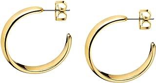 Calvin Klein KJ2KJE100100 Ladies Embrace Gold Hoop Earrings