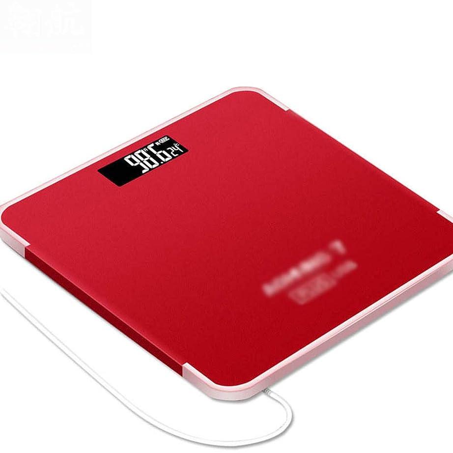 欺くシロクマ命令的デジタル体重計、USB充電電子秤、オートオン/オフ、あらゆる家族に適した