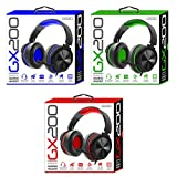 Sentry Industries Inc. GX200 Gaming Headset for PS4 / Xbox/PC - Color May Vary (Red, Green, Blue)