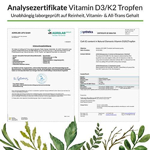 Vitamin D3 + K2 Tropfen 50ml - Premium: 99,7+% All-Trans (K2VITAL® von Kappa) + hoch bioverfügbares D3 - Laborgeprüft, hochdosiert, flüssig - 4