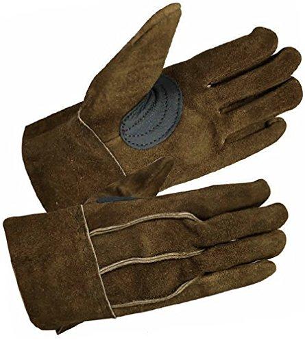 富士グローブ IT-68 背縫ブラウン 皮手袋 黒吟皮補強付き 10双組 (Lサイズ)