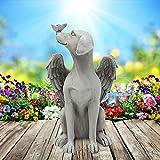 Statue Commémorative pour Animaux de Compagnie de Chien d'Angel, Pierre Tombale, Statue de Jardin de Chien en Résine avec Ailes, Décoration Extérieure pour la Pelouse du Patio, Cadeau d'Ornement