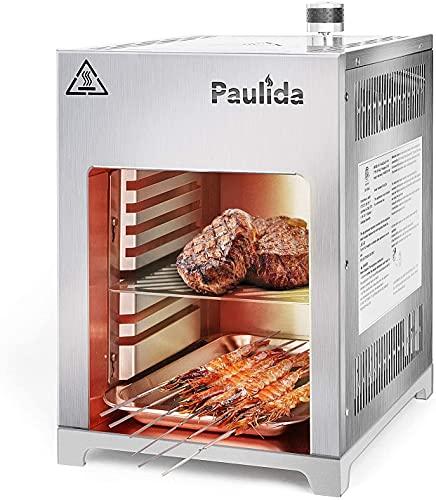 Paulida Gas Steak Grillr, Hochtemperatur...