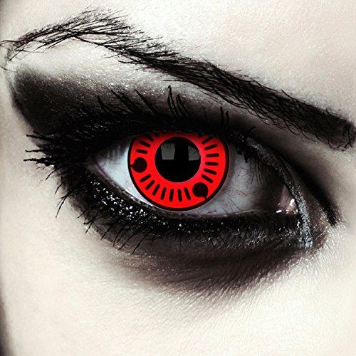 Rote farbige Kontaktlinsen für Naruto Sharingan Sasuke Cosplay Farblisnen in rot Design: Naruto 1