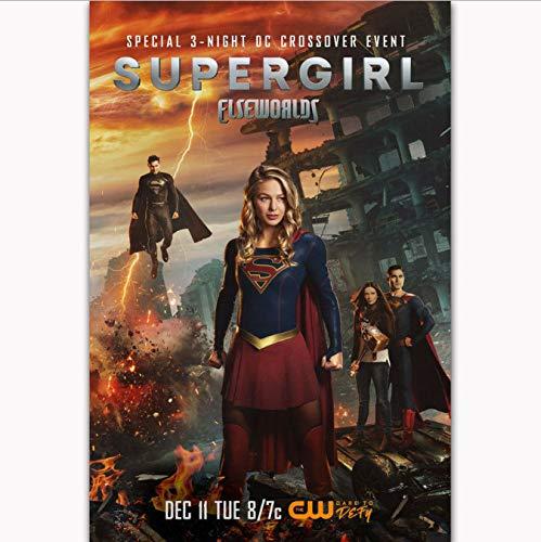 yhnjikl Poster Und Drucke Die Flash Pfeil Supergirl Crossover Elseworlds Tv Serie Kunst Poster Leinwand Malerei Wohnkultur 40X60 cm Ohne Rahmen