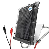 POWOXI Solar Panel for Deer Feeder 6V 1.5W Waterproof Solar Battery Charger with Mounting Bracket Alligator Clip Feeder Solar Panel 6 Volt Solar Panel