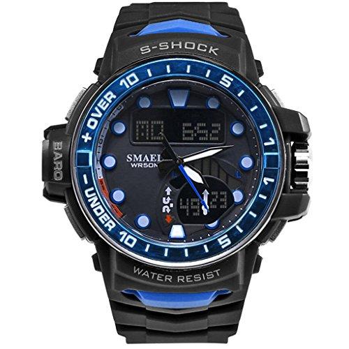 Yxx max heren horloges Sale sporthorloge mode beweging multifunctioneel waterdicht elektronisch horloge herenhorloge grote wijzerplaat lichtgevend stopwatch