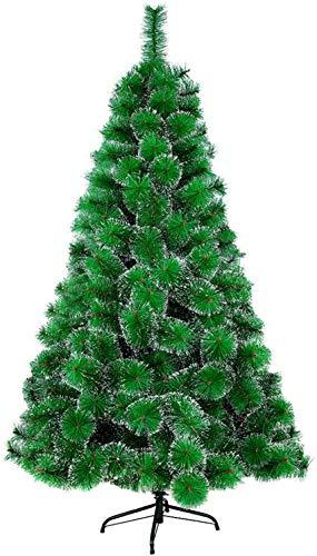 MCTECH 240cm Artificial Árbol de Navidad Decoración Navideña, Material PVC Aguja de Pino, Verde con Nieve con Soporte en Plastic