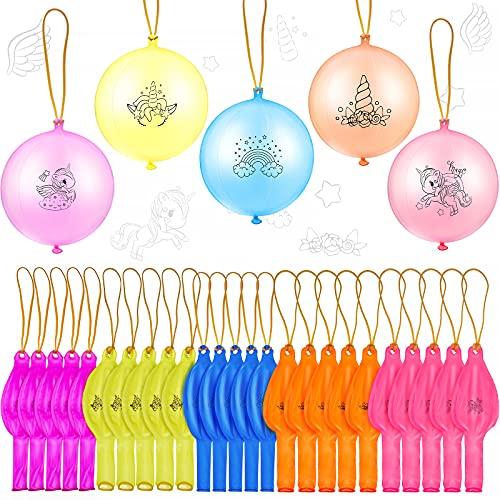 36 Globos de Ponche de Unicornio Colorido Juguete de Bola de Golpe de...