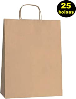 534a3ac56b Yearol K01 25 sacs Papier Kraft avec poignées. 30 cm 22 cm 9 cm spécial