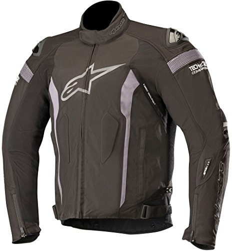 T-Missile Drystar Waterproof Textile Motorcycle Jacket for Tech-Air Race Airbag System (Black Black)