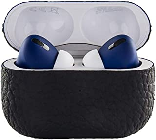 EXOTIC LEATHER APPLE AIRPODS PRO BLACK WITH BLUE