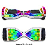 SKINOWN Self Balance Two Wheel Balance Board Hover Scooter Sticker Protective Skin Wrap Adhesive Vinyl Decal Cover Colorful Block