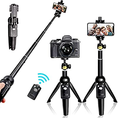 Selfie Stick Tripod Bluetooth, 40 Inch Extendable Flexible Selfie Stick Tripod with Detachable Wireless Remote, Compatible with iPhone Xs Max/XS/XR/iPhone X/iPhone 8 Plus/iPhone 7/iPhone 6 Plus/Galaxy by GSLL