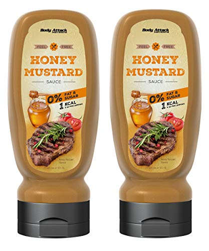 Body Attack Grill Sauce - Vegan und Low Carb 2 x 320ml (Honey Mustard)