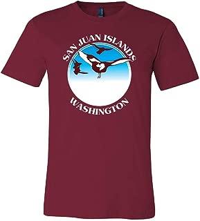 Charlie's San Juan Islands Washington Adult T-Shirt Red