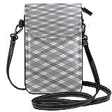 Leather Phone Purse Case Cross Line Cure Fine Print Phone Bag Multi Pocket Crossbody Phone Bag Purse Wallet Travel Passport Bag Handbags For Women