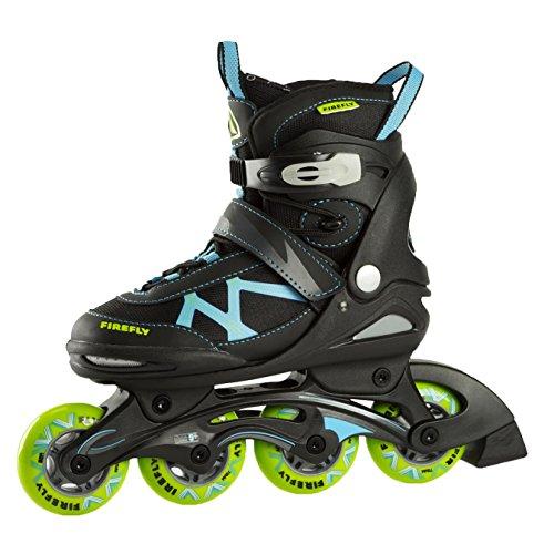 FIREFLY Jungen Inline-Skates FF Comp Adj Jr, schwarz/blau/lime,33