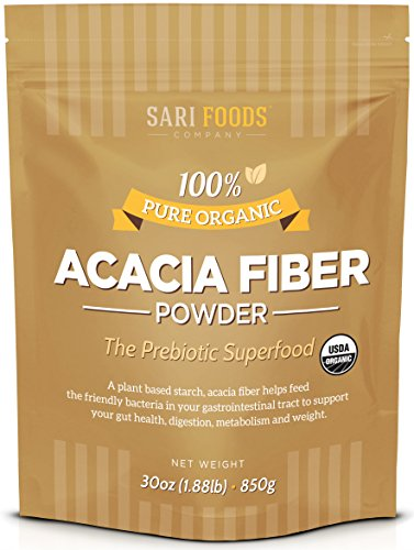 Organic Acacia Fiber Powder (30 Ounce): Natural, Whole Food, Plant Based Prebiotic Superfood for Gut Health …