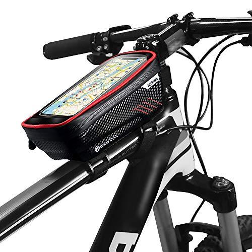 Lixada Sacs de téléphone Portable vélo, avec écran Tactile étanche, Sacoches de Cadre vélo, étui Porte-téléphone Portable vélo, sacoches de Guidon vélo