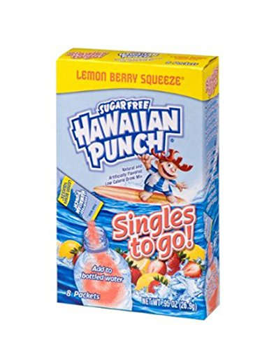 Hawaiian Punch Singles To Go Powder Packets, Water Drink Mix, Lemon Berry Squeeze, 0.95 Ounce, 8 Count per pack, (Pack of 12) - ORIGINAL FLAVOR