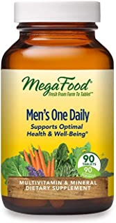 MegaFood, Men's One Daily, Daily Multivitamin and Mineral Dietary Supplement with Vitamins B, D and Zinc, Non-GMO, Vegetar...