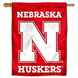 College Flags & Banners Co. Nebraska Huskers Wordmark Double Sided House Flag